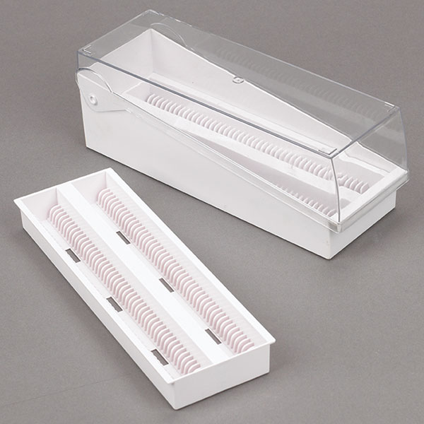 Slide Storage Box with Removable Tray
