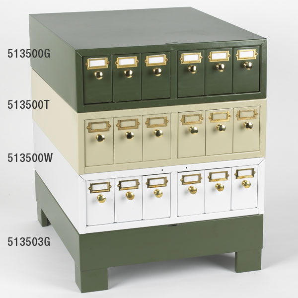 Slide Storage Cabinet, Green