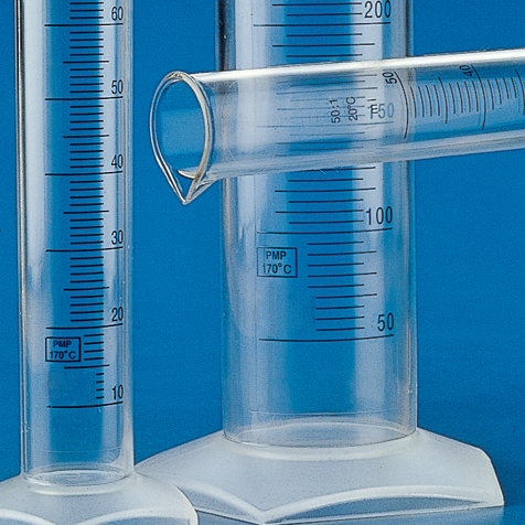 Graduated Cylinder, PMP, Blue Printed Graduations