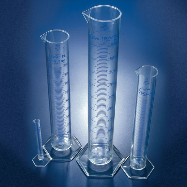 Graduated Cylinders, Printed Graduations, PMP (TPX), Class B
