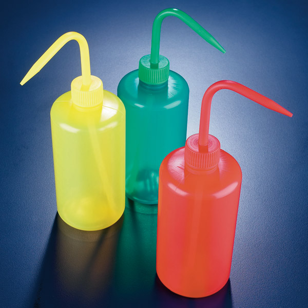 Colored Wash Bottles
