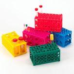 TUFFBLOK XL Tube Rack, 4-Way, PP, Link Together, Blue