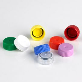 Screw Cap for Microtube, with O-Ring, Yellow