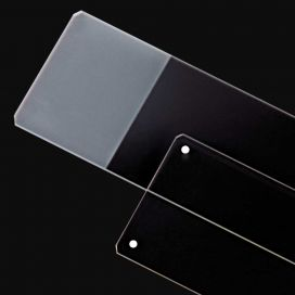 Microscope Slide, General Purpose, Frosted 1 End 1 Side, 25x75mm, Gound Edge, Safety Corners