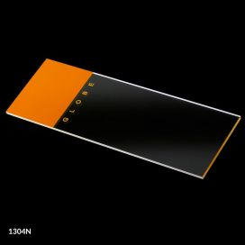 Microscope Slides, Glass, 25 x 75mm, 90° Ground Edges, Orange Frosted