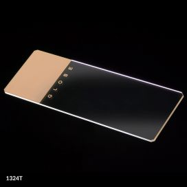 Microscope Slides, Glass, 25 x 75mm, 90° Ground Edges with Safety Corners, Tan Frosted