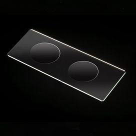 Microscope Slides, Glass, 25 x 75mm, 90° Ground Edges with Safety Corners, Double Cavity