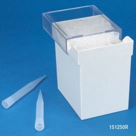 Pipette Tip, 1000 - 10,000uL (1-10mL), Natural, for use with Finnpipette, Brand, Gilson, Socorex & Labsystem, Racked, 25/Rack, 4 Racks/Box