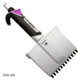 Pipette, Diamond Advance, Fully Autoclavable, 12-Channel, Adjustable Volume, 20 - 200uL, Lavender (Tip Group B)