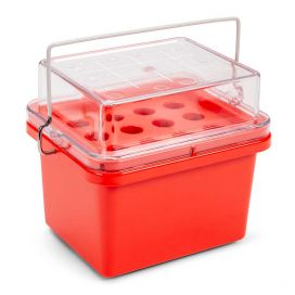 Mini Cooler, 0°C, 12-Place (3x4) for Blood Collection Tubes, Red