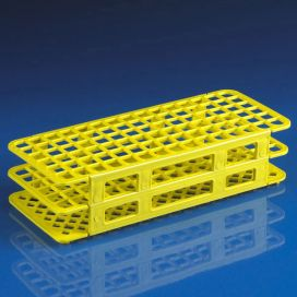 Rack, Tube, 12/13mm, 90-Place, PP, Yellow