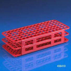 Rack, Tube, 12/13mm, 90-Place, PP, Red