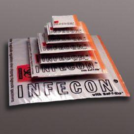 "Infecon Specimen Bags, Zipper Closure, 24 x 24"" with Document Pouch"