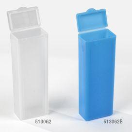 Slide Mailer, Polypropylene, Flip Top, for 5 Slides, Blue