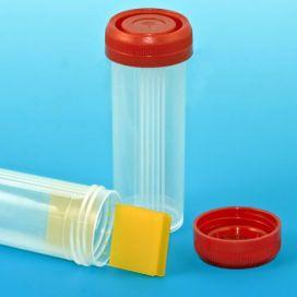 Slide Mailer, Polypropylene, Red Screwcap, for 4 Slides