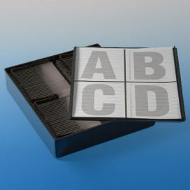 Slide Staining Storage Box, Black Polystyrene, (for up to 4 racks #513220)