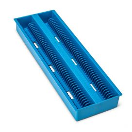 Slide Draining Tray, 100-Place for up to 200 Slides, ABS, Blue