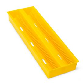 Slide Draining Tray, 100-Place for up to 200 Slides, ABS, Yellow