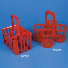 Bottle Carrier, 4-Place, For Bottles Up To 120mm Wide, RED