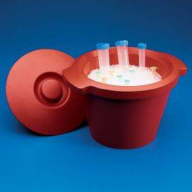 Ice Bucket, with Lid, 4.5L, Round, Red