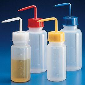 Wash Bottle, Yellow Screw Cap, 500mL, PE