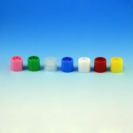 Screw Cap, for Sample Tubes with External Threads, Yellow