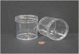 """Jar, Wide Mouth, 180mL (6oz), PS, 70mm Opening, 2 7/16 x 2 5/8""""   (Screw Cap Packaged Separately)"""