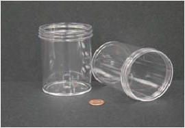 """Jar, Wide Mouth, 240mL (8oz), PS, 70mm Opening, 2 7/16 x 3 3/8""""   (Screw Cap Packaged Separately)"""