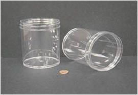 """Jar, Wide Mouth, 480mL (16oz), PS, 89mm Opening, 3 1/8 x 4""""   (Screw Cap Packaged Separately)"""