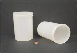 """Jar, Wide Mouth, 600mL (20oz), PP, 89mm Opening, 3 1/8 x 5""""   (Screw Cap Packaged Separately)"""