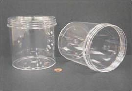 """Jar, Wide Mouth, 1200mL (40oz), PS, 120mm Opening, 4 3/8 x 5 1/16""""   (Screw Cap Packaged Separately)"""