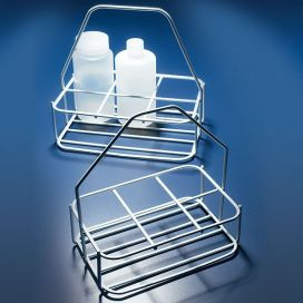 Bottle Carrier with Handle, Steel, 6-place, For 74mm Diameter Bottles