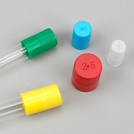 Diamond Culture Tube Cap for 18mm Glass Culture Tubes, Yellow