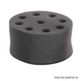 Tube Holder, Foam, for use w GVM Series 8 x 16mm Tubes, Must use w VM-AS-PLATE/GVM-AS-ROD