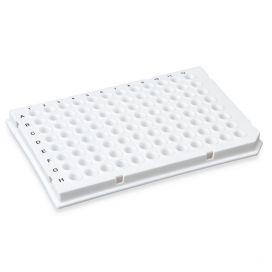 0.1mL 96-Well PCR Plate, Low Profile, Half Skirt (Light Cycler-style) White