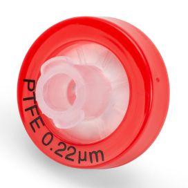 Syringe Filter, PTFE Hydrophilic Membrane, 0.22μm Porosity, 13mm Diameter, PP Housing, Non-sterile, Bulk Packed