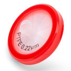Syringe Filter, PTFE Hydrophobic Membrane, 0.22μm Porosity, 30mm Diameter, PP Housing, Non-sterile, Bulk Packed