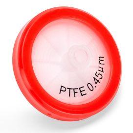 Syringe Filter, PTFE Hydrophobic Membrane, 0.45μm Porosity, 30mm Diameter, PP Housing, Non-sterile, Bulk Packed